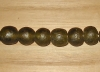 5 Olive Moss Artisan Extra Large Recycled Glass Beads