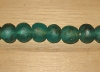 5 Deep Turquoise Artisan Extra Large Recycled Glass Beads