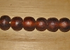 5 Deep Chocolate Artisan Extra Large Recycled Glass Beads