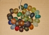 1 Set (32 Extra Large) Mix Recycled Glass Beads