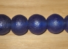 2 Deep Indigo Artisan Jumbo Recycled Glass Beads