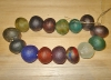 1 Set (15 Jumbo) Rainbow Mix Recycled Glass Beads