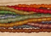 1 Set (24 tiny beads) Rainbow Mix Recycled Glass Beads