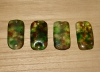1 Woodland Camouflage Artisan Recycled Glass Pendant