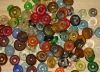 1 Set (24 Sequins) Rainbow Mix Recycled Glass Beads