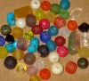 Eco Beaded Stitch Marker (48 beads) Rainbow Mix Recycled Glass, Tagua & Vintage Semiprecious Stone Beads (Wire & Hemp Yarn sold separately)
