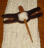 Eco Handmade Dragonfly Wood Shawl Pin