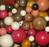 34 Mixed Rainforest Tagua Nut Beads