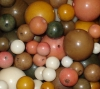 29 Vegan Mixed Rainforest Tagua Nut Beads