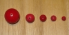 20 Rich Berry Pink 9mm Round Tagua Nut Beads