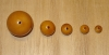 1 Palomino Gold 20mm Rainforest Tagua Nut Bead