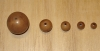 1 Mocha Cafe 20mm Round Tagua Nut Bead