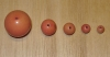 20 Desert Rose Coral 9mm Rainforest Tagua Nut Beads